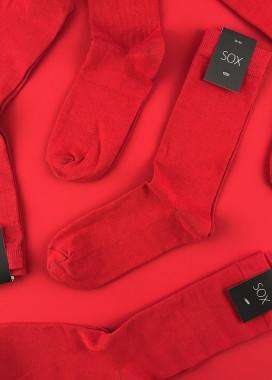 Изображение Носки однотонные красные