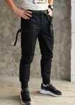 Изображение Зимние карго штаны мужские черные Танос
