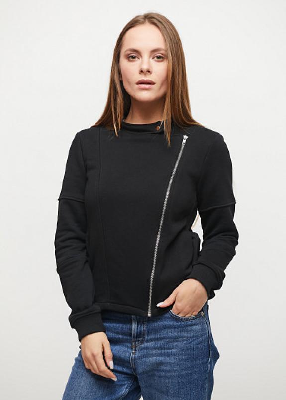 Изображение Женская черная трикотажная кофта-косуха