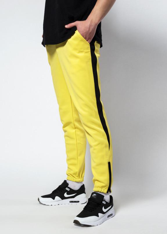 Изображение Спортивные штаны мужские жёлтые с лампасами Рокки Tur streetwear