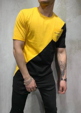 Изображение Футболка двухцветная черно-желтая Mfstore