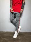 Изображение Стильные серые брюки с лампасами Mfstore