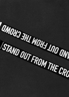 Изображение Ремень мужской принт STAND OUT FROM THE CROWD черный