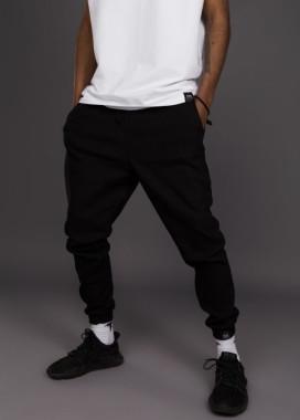Изображение Джогеры мужские черные на резинке