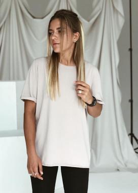 Изображение Базовая женская футболка бежевая