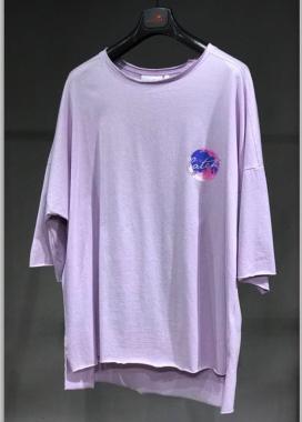 Изображение Футболка фиолетовая с месяцем MFStore