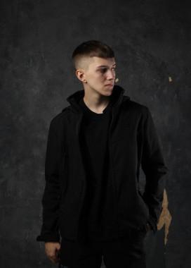 Изображение Демисезонная куртка мужская черная Центурион Tur streetwear