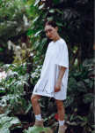 Изображение Платье-футболка MIDI OVERSIZE принт SHE Coco milk - белое She Black Limit