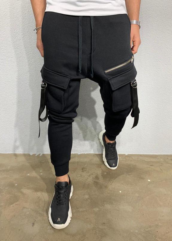 Изображение Брюки с накладными карманами и затяжками MFStore