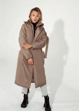 Изображение Пальто со спущенными рукавами oversize силуэта