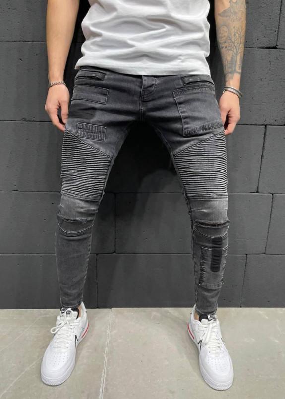 Изображение Джинсы с рифлеными вставками над коленями MFStore