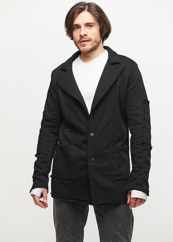 Изображение Мужской трикотажный пиджак с открытыми швами