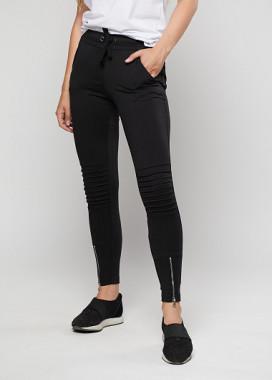 Изображение Женские штаны с ребристыми вставками