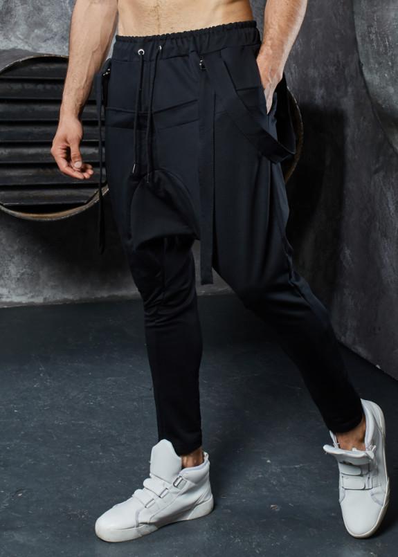 Изображение Штаны галифе со шлейками черные MFStore