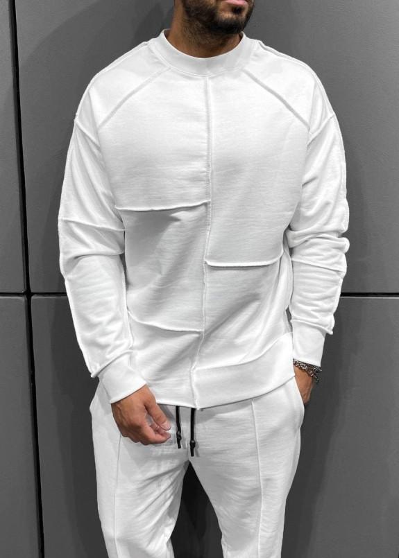 Изображение Кофта с асимметричными швами белая MFStore