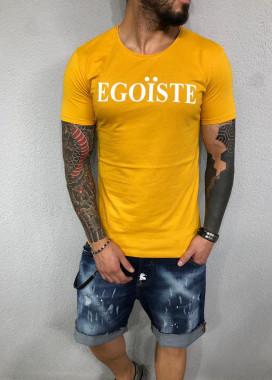 Изображение Футболка желтая с надписью Egoїste Mfstore