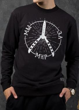 Изображение Свитшот мужской чёрный Мы за мир Tur streetwear