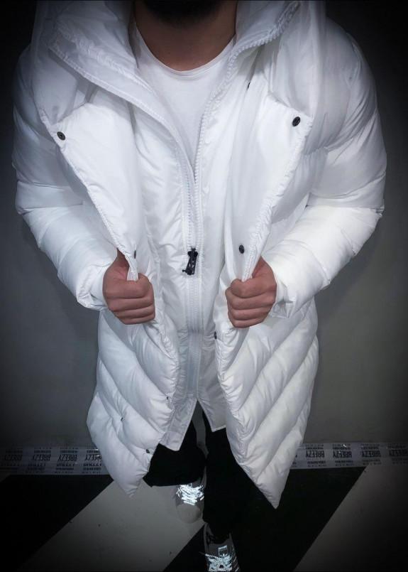 Изображение Удлиненный мужской пуховик с капюшоном Mfstore
