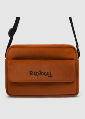 Изображение Прямоугольная сумка через плечо мессенджер кирпичного цвета