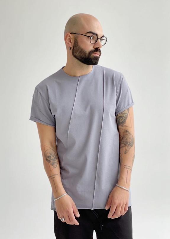 Изображение Базовая серая футболка со строчками