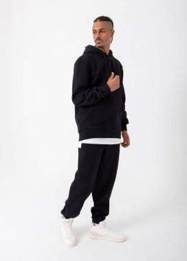 Изображение Спортивный костюм на флисе черный базовый MFStore