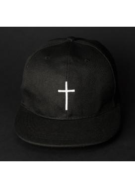Изображение Снепбек мужской с вышивкой КРЕСТ черный Black Limit