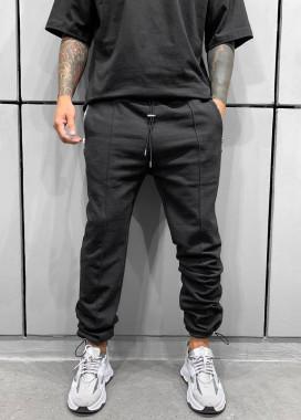 Изображение Спортивные брюки свободного кроя черные MFStore