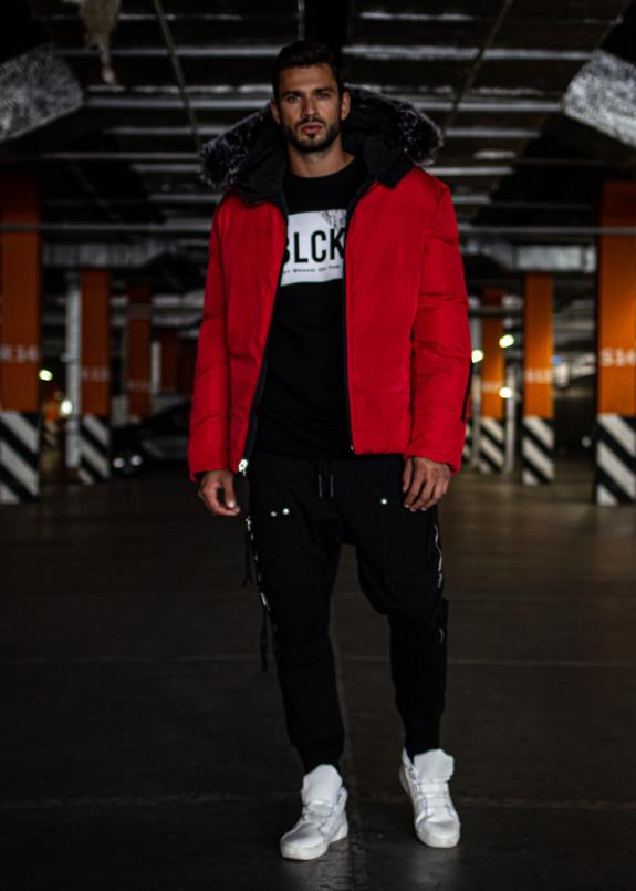 Изображение Двухсторонняя куртка с мехом на капюшоне MFStore