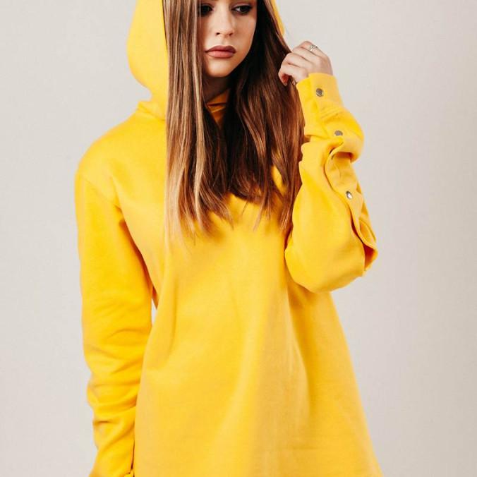 Изображение Худи жёлтого цвета Street style