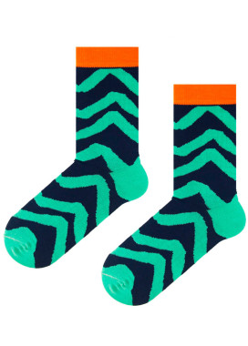 Изображение Длинные хлопковые носки в яркие полоски